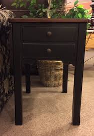 distressed black end table new occasional tables from null crockin s furniture