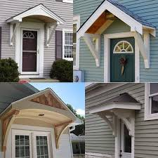 Exterior Door Awnings Builiding A Portico Country Chic Pinterest Porch Doors And