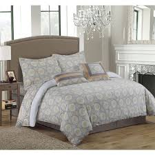 Egyptian Cotton King Duvet Cover Tribeca Living 300 Thread Count Maldives 5 Piece Cotton Grey