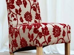 dining room 22 red dining chairs with flowery motif made of