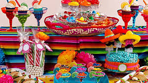 Candy Themed Party Decorations Mexican Party Candy Favors Idea Mexican Fiesta Dessert Ideas