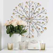 metallic home decor metallic burst wall décor u2013 stratton home decor