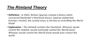 Controlling Definition by Mackinder U0027s Heartland Theory And Spykman U0027s Rimland Theory Ppt