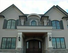 grey stone and stucco exterior houses google search house