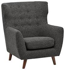 Modern Accent Chair Amazon Com Rivet Hawthorne Mid Century Tufted Modern Accent Chair