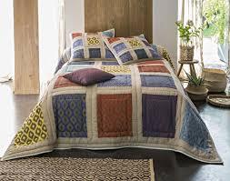 plaid ethnique chic boutis couvre lit dessus de lit jeté de lit becquet