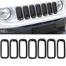 jeep black 2015 aliexpress com buy 7 pcs set black car front grille inserts mesh