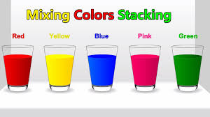 colors for children to learn with colors mixing stacking