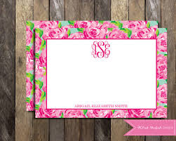 printable lilly pulitzer note cards thank you card 2 sided lilly