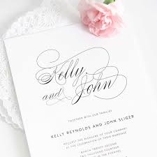 Create Marriage Invitation Card Free Wedding Invitations White Design With Large Size Names Couple