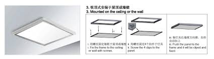 led panel light manual installing led lights in ceiling ceiling designs