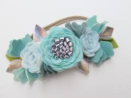 frozen headband flower crown blue sky mini crown girl flower headband frozen