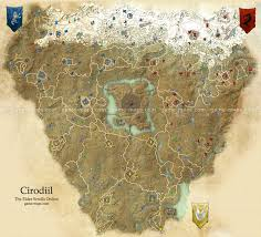 Online World Map by Cyrodiil Map The Elder Scrolls Online Game Maps Com