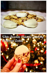 christmas cookies part 2 white chocolate pistachio cranberry