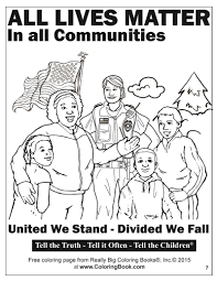 coloring books all lives matter free online coloring page