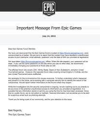 Epic Games forum hacked     change your online passwords  and beware     HOTforSecurity   Bitdefender epic games email