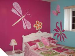 beautiful wall decoration murals in pink bedroom design ideas for