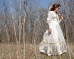 cotton wedding dress etsy