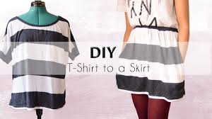 diy transformation shirt into a skirt with pockets youtube