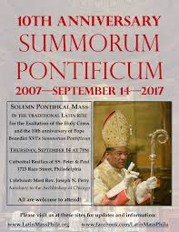 thanksgiving 2007 date new liturgical movement save the date in philadelphia summorum