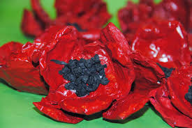 poppy writing paper poppies an art project for remembrance day ruth daly author step 9 make poppy seeds using scrunched up tissue paper or black pom poms