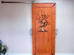 interior barn doors for homes custom single sliding barn doors for homes with artwork door