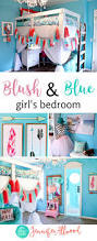 ava s new blush blue girls bedroom loft bed jennifer allwood and please share my blush blue girls bedroom pins and follow me on pinterest
