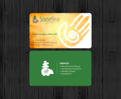 Massage Therapy Business Cards 193 Playful Modern Massage Therapy Business Card Designs For A