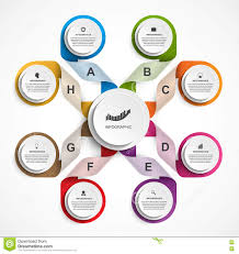 infographic design organization chart template stock vector