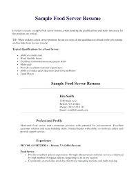 Resume Template Restaurant Sample Resume For Fast Food Restaurant Sample Bartender Resume