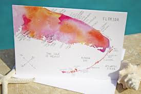 Map Of Watercolor Florida by Watercolor Island Map Greeting Cards U2013 Florida Coast