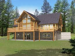 cabin plans with basement rustic home plans with walkout basement regard to cabin house