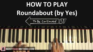 Piano Meme - how to play yes roundabout to be continued meme piano