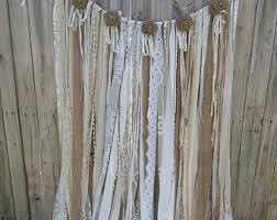 shabby chic curtains etsy