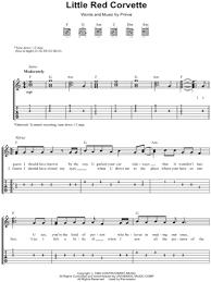 corvette chords prince corvette guitar tab in c major