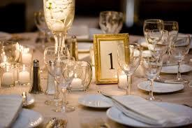 gold table number frames beachside ballroom wedding in santa barbara california inside