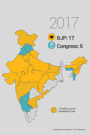 India Map With States the bjp map of india 2017 newsflicks