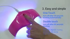 dry nail polish in 30 seconds enfren led nail dryer es 50 youtube