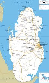 doha qatar map detailed clear large road map of qatar ezilon maps