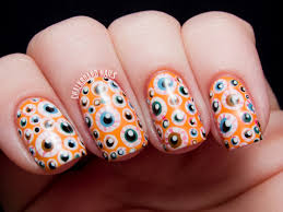 halloween background colors eyeball nails awesome execution love the background color