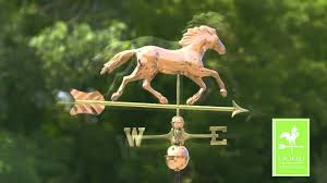 Horse Weathervane For Barn Good Directions 952p Smithsonian Running Horse Weathervane