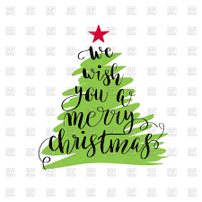 we wish you a merry tree poster royalty free
