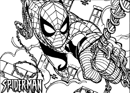 spiderman comic spider man coloring page wecoloringpage