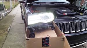 led lights for 2014 jeep grand 2014 jeep grand led hid conversion part 2