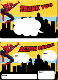 free printable spider man invitations printables