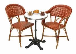 Resin Bistro Chairs Fancy Rattan Bistro Table International Caravan Outdoor Resin