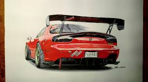 sports cars drawings mazda rx 7 7 hours of work fb page car drawings by iker darko