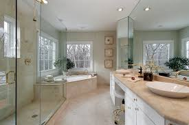 corner tub bathroom designs luxury bathroom designs with travertine floor tile and