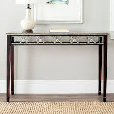 tall black console table safavieh lisa antique black console table amh4049a the home depot
