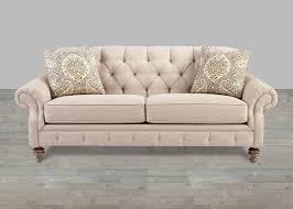 Beige Fabric Sofa Custom Upholstered Fabric Sofa Fall River